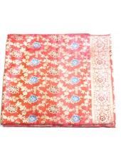 Dark Pink Base  Deluxe Jari  Rumala Sahib With Blue and Maroon Flowers - Jari_1015