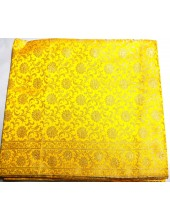 Lemon Yellow Base Rumala Sahib with Silver Jari - Jari_1013