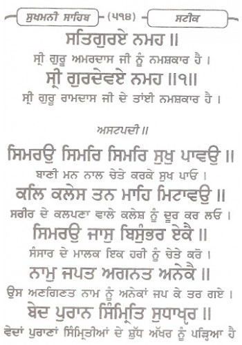 Sukhmani Sahib With Meaning In English Coverslasopa Sukhmani sahib is the name given to the set of hymns divided into 24 sections which appear in the sri guru granth sahib on ang 262 each section which is ca. coverslasopa weebly