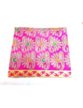 ME_1010 - Magenta Rumala Sahib With Elegant Threadwork,  Magnificient Embroidery and Enchanting Borders