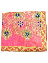 ME_1001 -  Pink Rumala Sahib With Elegant Threadwork,  Magnificient Embroidery and Enchanting Borders