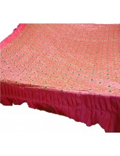 CH_1003 -  Pink Chandoa  Sahib -  5 Feet by 5 Feet  &  Rumala Sahib Set With Elegant Threadwork,  Magnificient Embroidery and Enchanting Borders