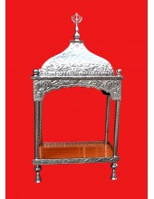 Steel Palki Sahib Super Deluxe With Tall Roof - Small Size - For Guru Granth Sahib Ji