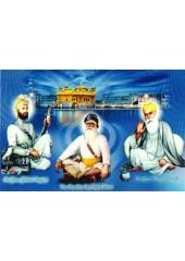 Baba Deep Singh Ji With Sikh Gurus  - SSW1158