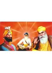 Baba Deep Singh Ji With Sikh Gurus  - SSW1237