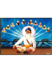 Baba Deep Singh Ji With Sikh Gurus - SSW585