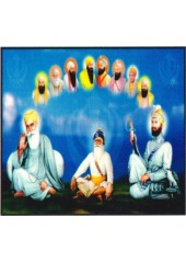 Baba Deep Singh Ji With Sikh Gurus  - SSW595