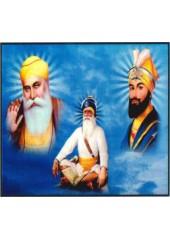 Baba Deep Singh Ji With Sikh Gurus  - SSW596