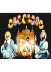 Baba Deep Singh Ji With Sikh Gurus  - SSW597