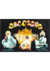 Baba Deep Singh Ji With Sikh Gurus  - SSW970