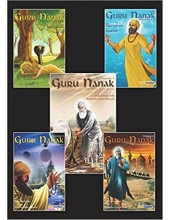Guru Nanak - The First Sikh Guru, Set of Five Books Vol1, 2, 3, 4, 5, (Sikh Comics) - Books By Daljeet Singh Sidhu