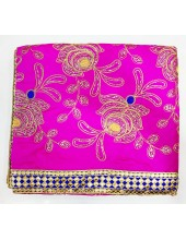 ME_1004 - Magenta Rumala Sahib With Flowers in Exclusive Sippi  and Thread Work