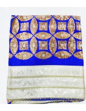ME_1002 -  Blue Rumala Sahib With Beautiful Sippi Embroidery