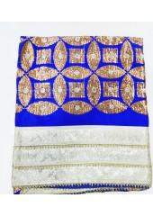ME_1002 -  Blue Rumala Sahib With Beautiful Sippi Embroidery