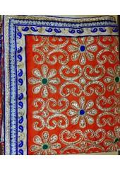 ME_1012 - Red Rumala Sahib With Elegant Threadwork, Enchanting  Embroidery and Designer Borders