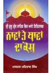 Sri Guru Granth Sahib Vich Aye Itihasak Navan Te Thavan Da Kosh - Book By Master Mehtab Singh