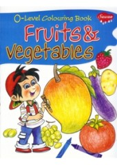 0 Level Colouring Book - Fruits and Vegetables