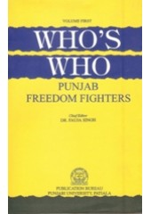 Who's Who Punjab Freedom Fighters -Vol 1 - Book By Dr. Fauja Singh