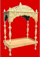 Brass Palki Sahib Circular Roof - Small Size - For Guru Granth Sahib Ji