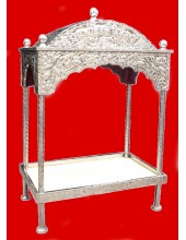 Steel Palki Sahib Circular Roof - Small Size - For Guru Granth Sahib Ji