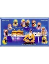 Baba Deep Singh Ji With Sikh Gurus - SSW16
