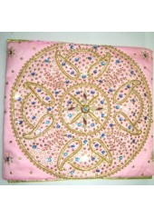 Rumala Sahib - Pink Silk Rumala Sahib - Embroidered Corners - HE_1007