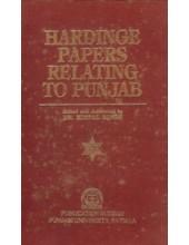 Hardinge Papers Relating To Punjab - Book By Dr. Kirpal Singh