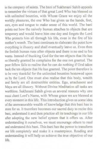 The Divine Sukhmani English Translation And Transliteration Bhai nirmal singh khalsa album: inr
