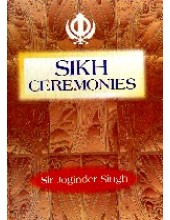 Sikh Ceremonies - Book By Joginder Singh