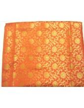 Orange Jari Rumala Sahib With Golden Jari - Jari_1001