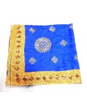 ME_1015 - Silken Blue Fine Embroidery Rumala Sahib