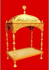 Brass Palki Sahib Deluxe - Medium Size - For Guru Granth Sahib Ji