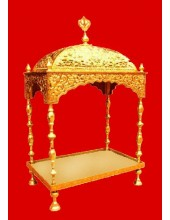 Brass Palki Sahib Deluxe - Mini Size - For Guru Granth Sahib Ji
