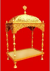 Brass Palki Sahib Deluxe - Mini Size - For Guru Granth Sahib Ji