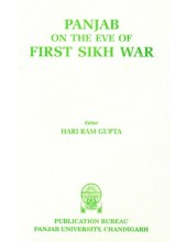 Panjab On The Eve Of First Sikh War - Book By Hari Ram Gupta