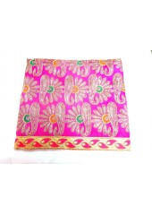 ME_1010 - Magenta Rumala Sahib With Elegant Threadwork,  Magnificient Embroidery and Enchanting Borders