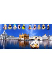 Baba Deep Singh Ji With Sikh Gurus  - SSW1109