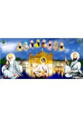 Baba Deep Singh Ji With Sikh Gurus  - SSW1129