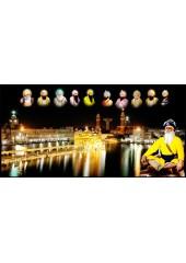Baba Deep Singh Ji With Sikh Gurus  - SSW1134