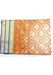 ME_1018 -  Orange Rumala Sahib With Elegant Threadwork,  Magnificient Embroidery and Enchanting Borders