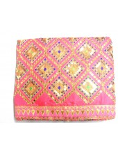 ME_1027 - Pink Rumala Sahib With Elegant Threadwork and  Embroidery