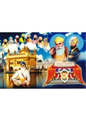 Baba Deep Singh Ji With Sikh Gurus  - SSW1004