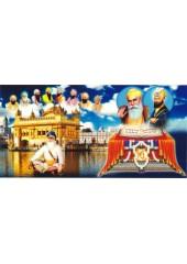 Baba Deep Singh Ji With Sikh Gurus  - SSW1020
