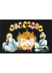 Baba Deep Singh Ji With Sikh Gurus  - SSW1030