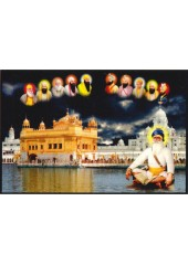 Baba Deep Singh Ji With Sikh Gurus  - SSW1036