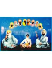 Baba Deep Singh Ji With Sikh Gurus  - SSW1039