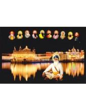 Baba Deep Singh Ji With Sikh Gurus  - SSW1040